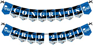 product image for Big Dot of Happiness Blue Grad - Best is Yet to Come - Royal Blue Graduation Party Bunting Banner - Party Decorations - Congrats Grad 2021