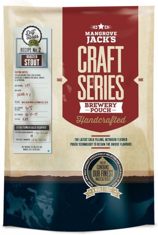 Jack 's Craft serie de manglares–Kit de cerveza Stout tostados con seco lúpulo