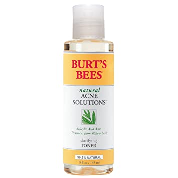Burts Bees Natural Acne Solutions Clarifying Toner 5 oz (Pack of 6) Eco Lips - Medicinal Lip Balm Tea Tree Peppermint - 0.15 oz. (pack of 4)