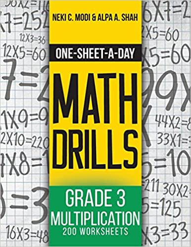 onesheetaday math drills grade  multiplication   worksheets  onesheetaday math drills grade  multiplication   worksheets book   of  neki c modi alpa a shah  amazoncom books