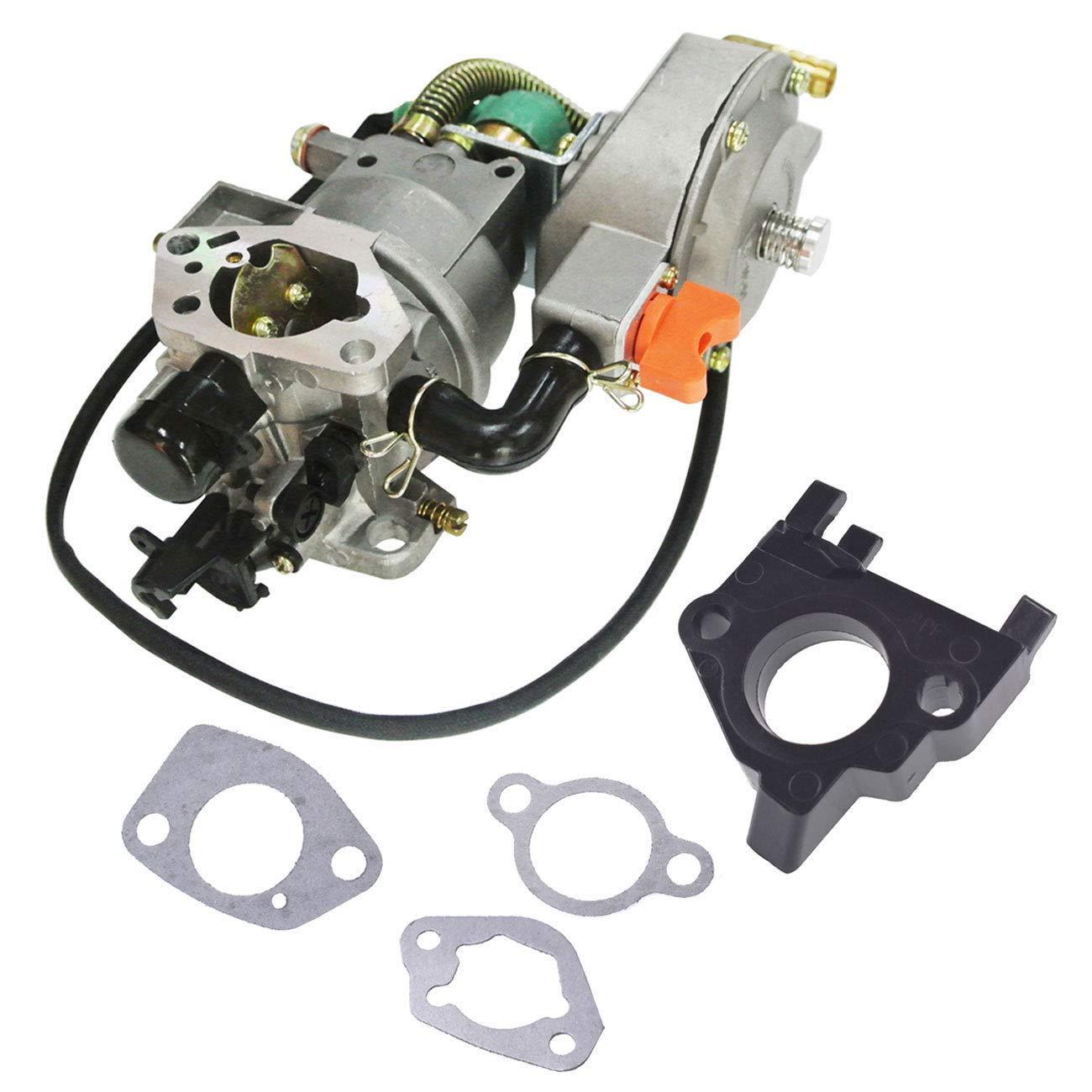 FidgetKute Dual Fuel Generator Carburetor for GX390 188F Spacer Insulator Gasket by FidgetKute