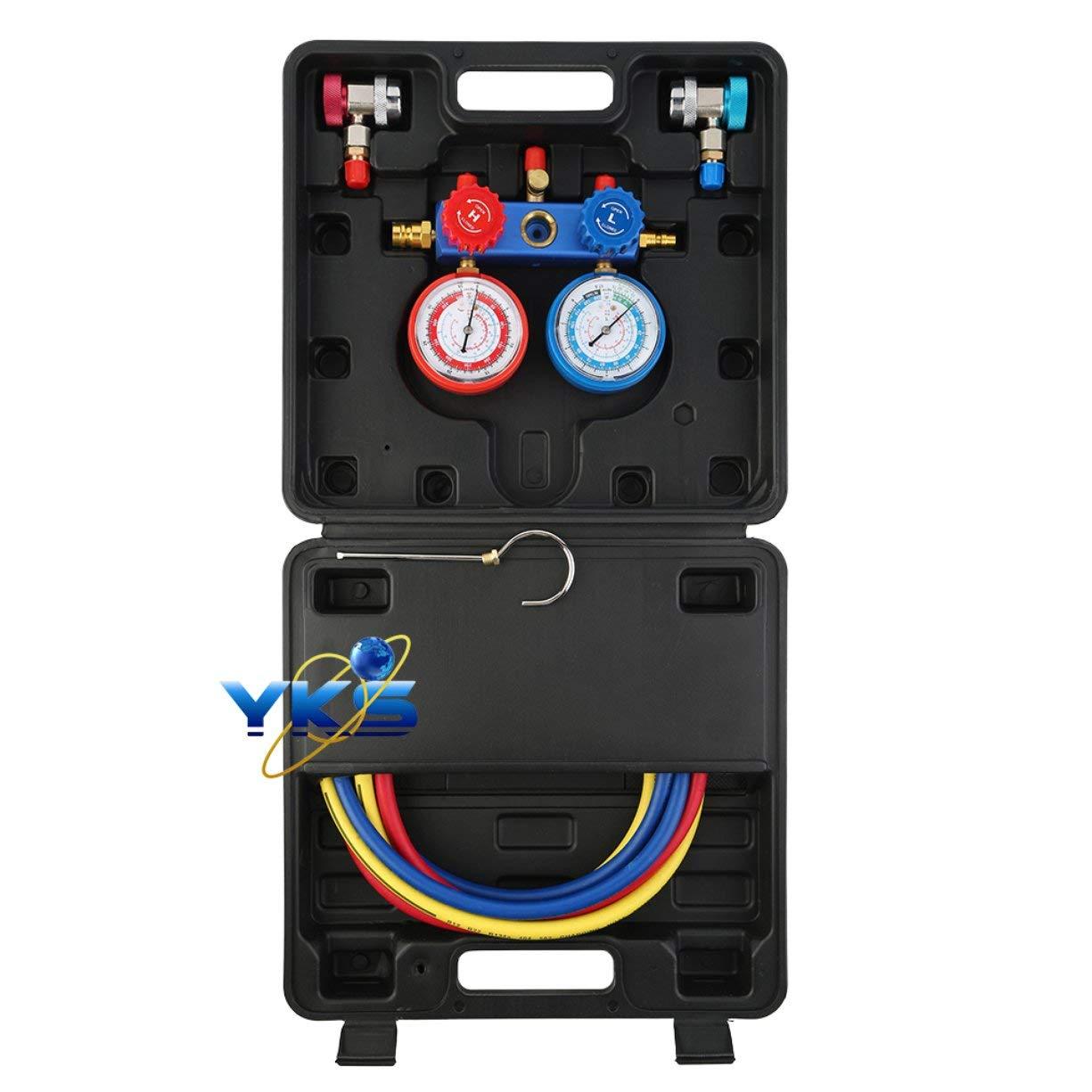 Practical AC R134a Quick Couplers Aluminumr Manifold Gauge QC13 Adapter Tool Set Kit