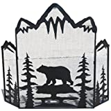 LL Home Metal Bear Fire Screen