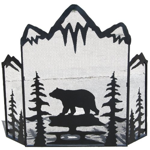 fireplace screen bear - 6