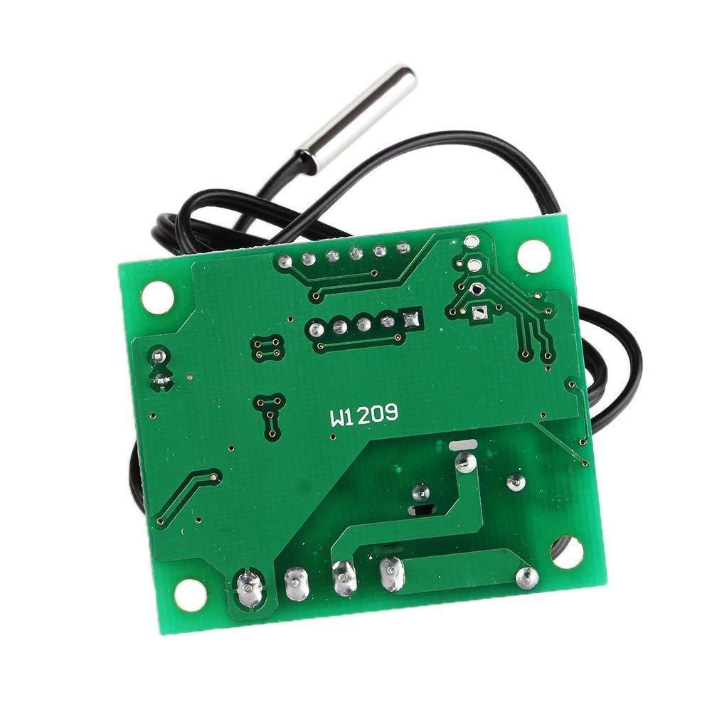 Newin Star DIY N/úmero LED XH-W1209 Mostrando 12 24V fr/ío calor Temperatura del termostato de control de temperatura Controllerv Interruptor de la temperatura del term/ómetro