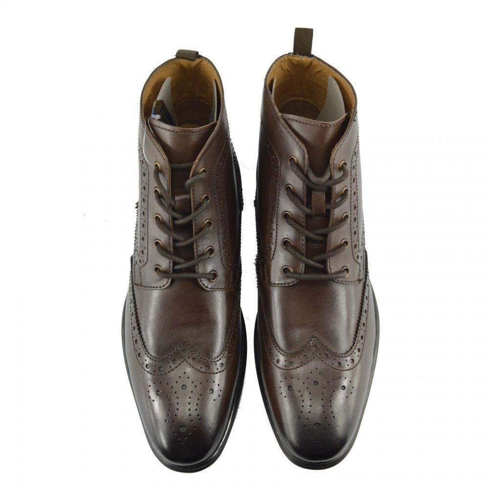 Kick Footwear Herren Qualität Leder Knöchel Wüste Stiefel Lässig-eleganten Akzent Knöchel Leder Schuhe Braun 1eff03