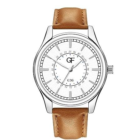 Amazon.com : XBKPLO Quartz Watches Mens Analog Wrist Watch Pointer Light Simple Retro Leather Band Temperament Strap Watch Jewelry Gift : Pet Supplies