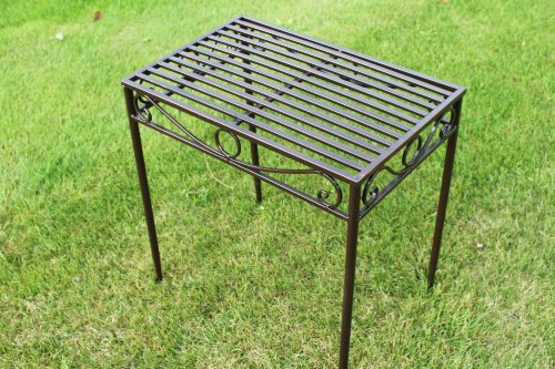 REDUCED- Versailles Metal Side Table or Plant Stand in Antique Bronze Finish (Large Size)- Ideal for the Home or Garden