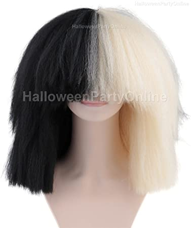 Halloween Party Online SIA Black Blonde Wig Extra Large Costume Cosplay HW 175