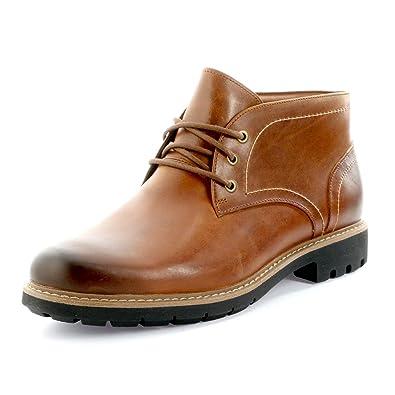 Clarks Batcombe Lo Dark Tan Leather 26127473, Boots: Amazon