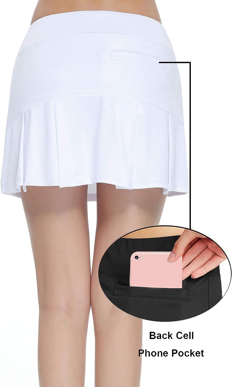 HonourSport Donna Gonna da Tennis Minigonna Sport Skort con Pantaloni
