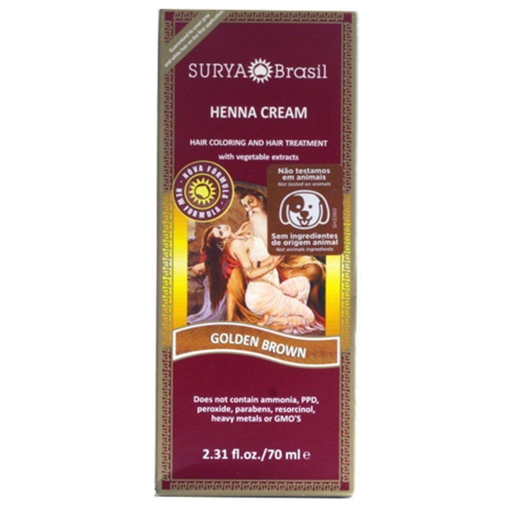 Surya Brasil Henna Hair Cream - Golden Brown 70ml (Pack of 2)