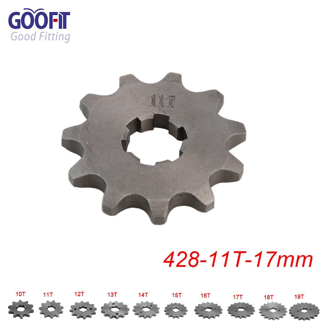 Goofit 420 10 T 17mm dents moto Pignon moteur Pignons coniques de cha/îne Engine For 50cc 70cc 90cc 110cc Motorcycle Dirt Bike ATV Quad
