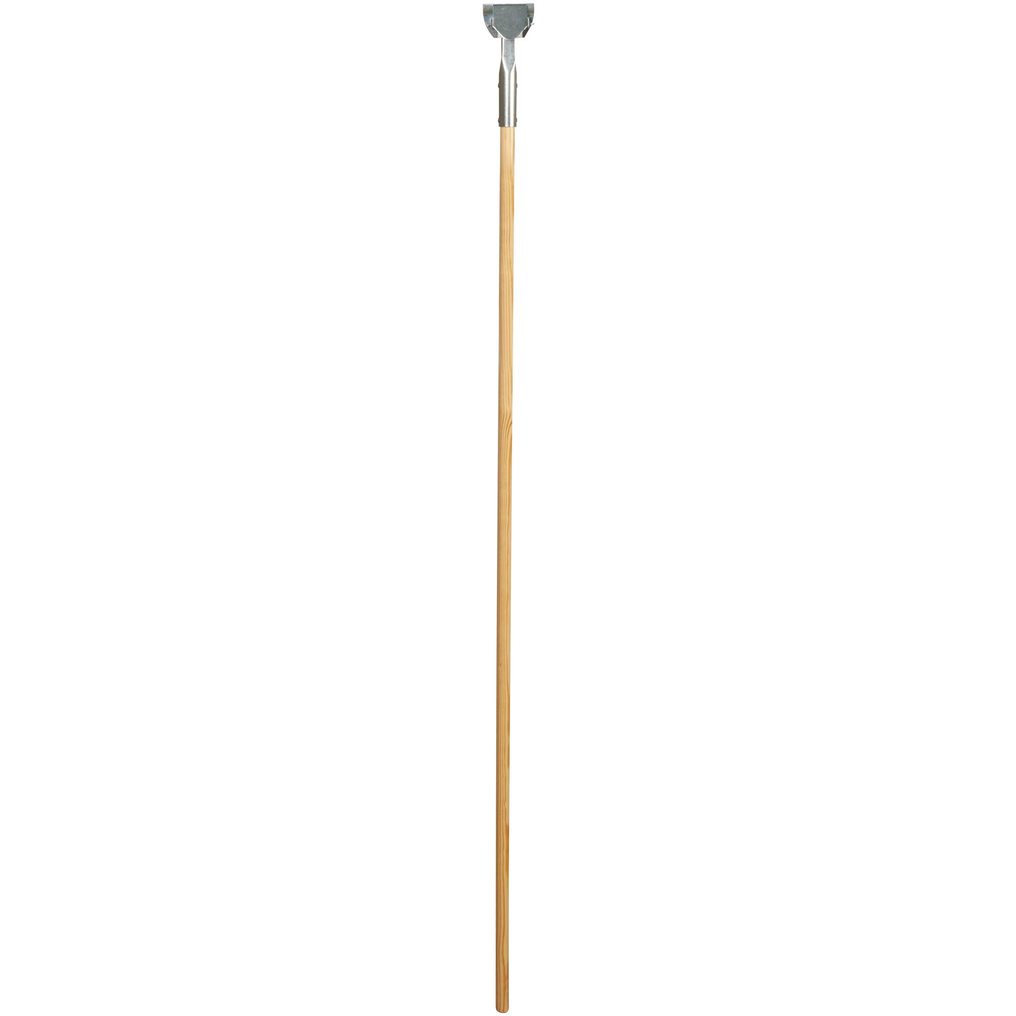 Clip-On Dust Mop Handle, 60'', Brown/Silver, 1/Each by Top Pack Supply
