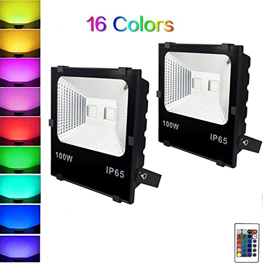 WRMING 100W LED Foco Floodlight RGB Proyector Exterior IP65 ...