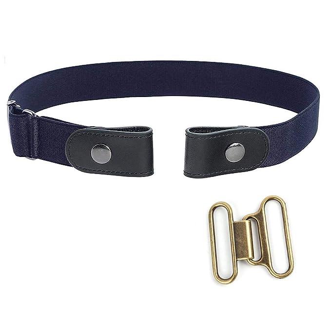 Mujeres Cinturón sin hebilla para hombres Cintura elástica cómoda Jeans  Pantalones Cinturones invisibles de la cintura bc5be575c9fb
