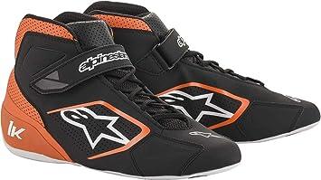 Size: 10, Black//Fuchsia Alpinestars Tech 1-K Karting Shoes