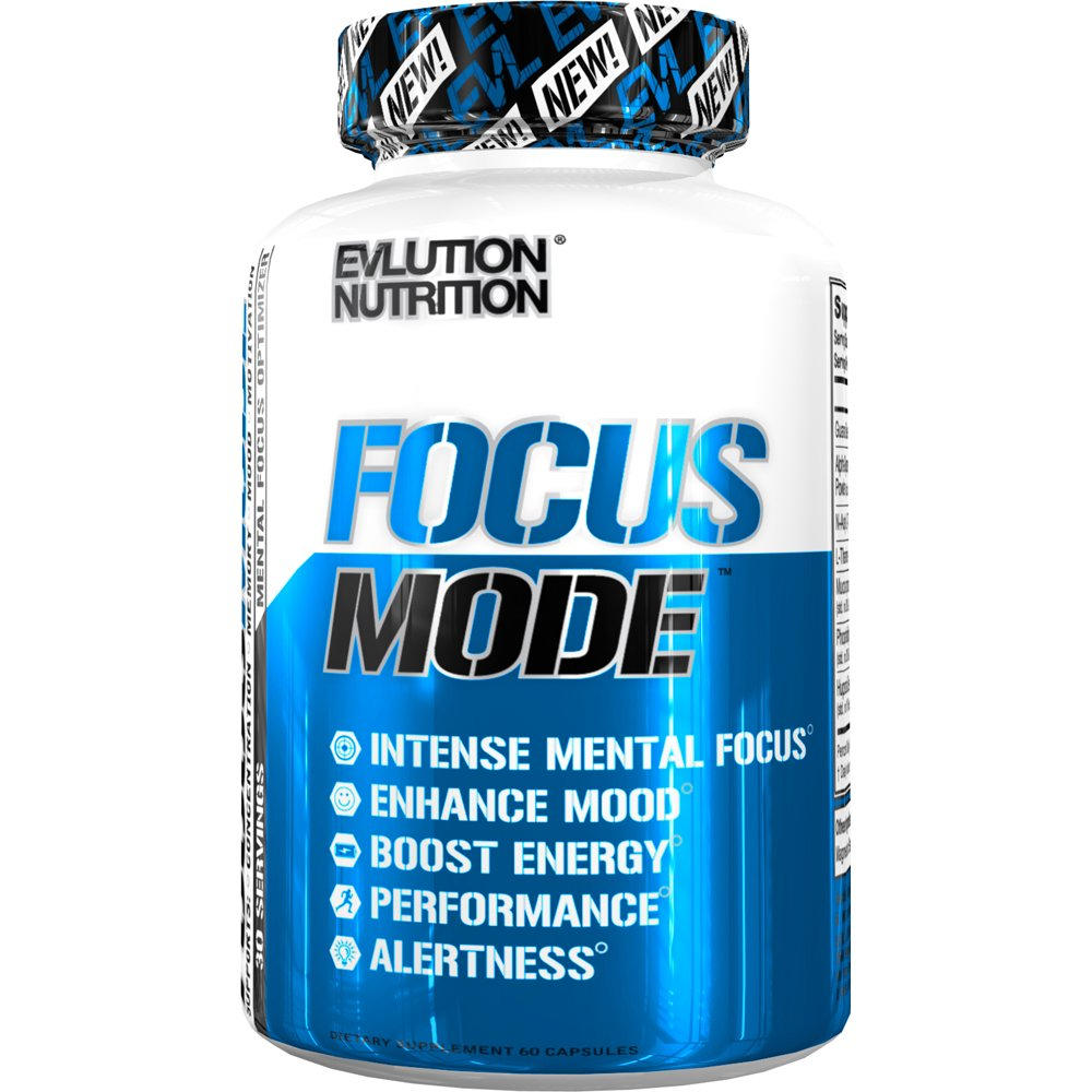 Evlution Nutrition Focus Mode, Herbal Brain Function and Cognitive Support Supplement, Focus, Energy, Clarity, Memory, Mind Enhancer and Mood Booster Nootropic (30 Servings) by Evlution