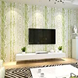 Buggy Nordic forest wood nonwoven stereo TV sofa wallpaper , 3 , 0.53m10m