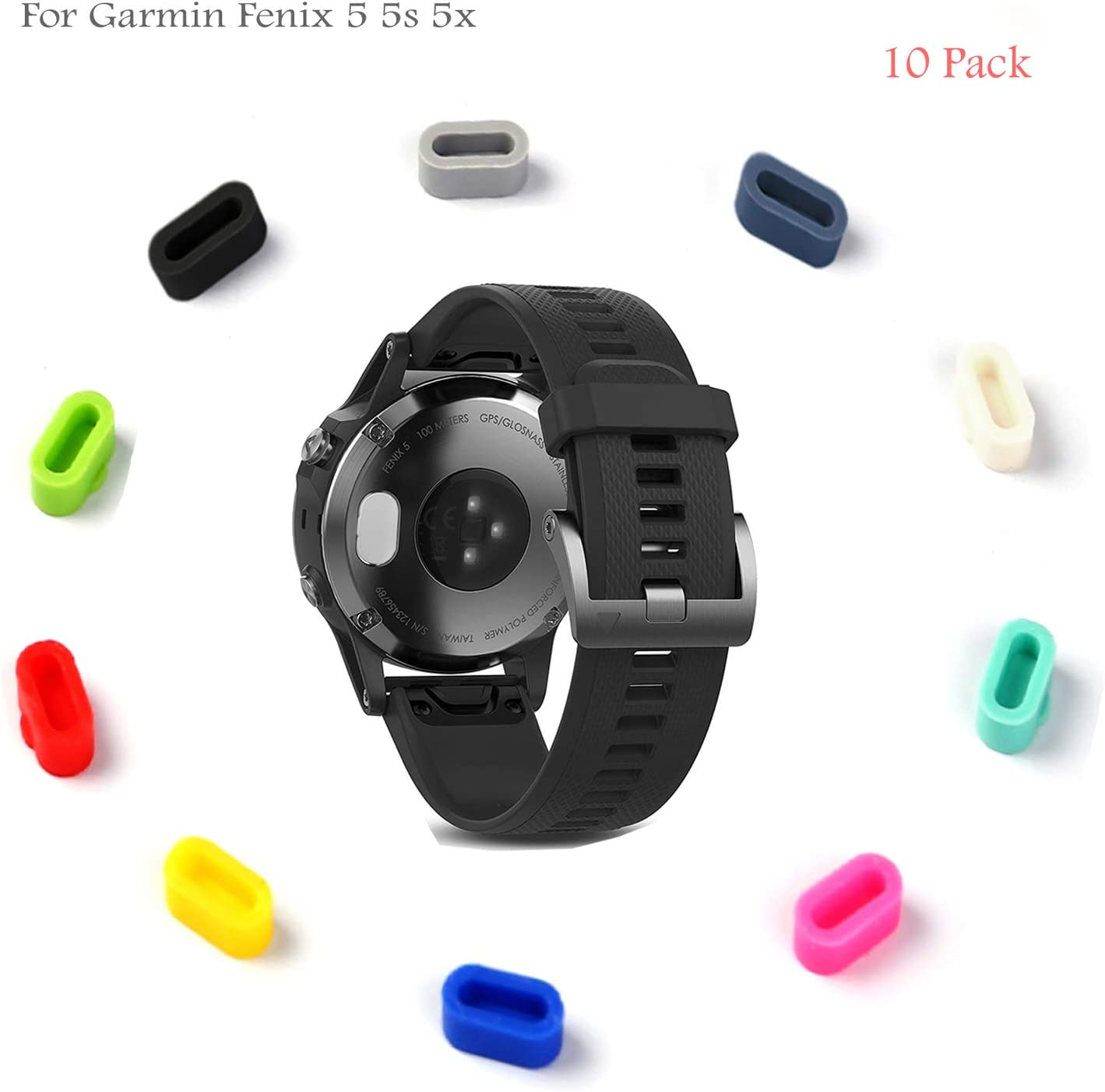 10-Pack) Tapones de polvo para Garmin Fenix 5 5X 5S, Rukoy puerto ...