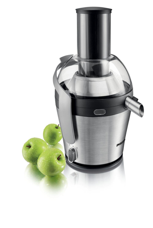 Philips HR1871/10 - Licuadora Avance Collection, 1000 W, prepara 2,5 litros de zumo de una sola vez, orificio de entrada XXL, 2 velocidades para frutas y verduras