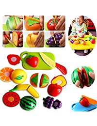 PickUp 9PCS Cooking Pretend Role Play Kitchen Fruit Vegetable Food Toy Cutting Set Gift save