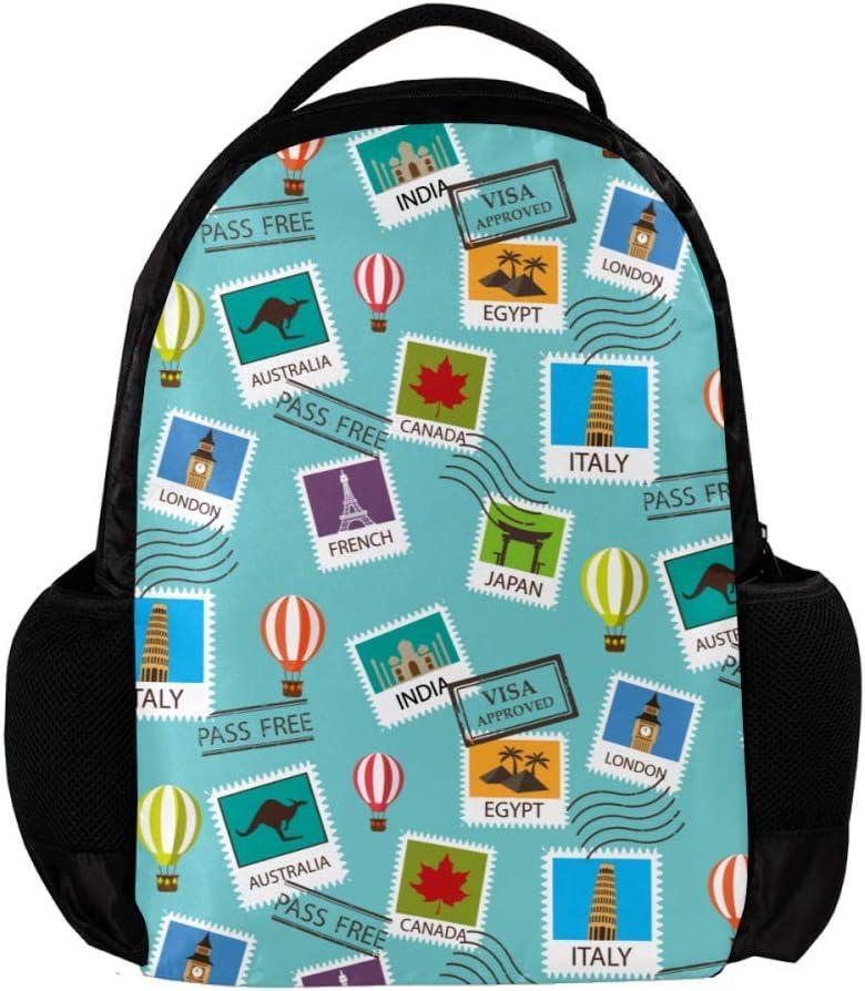 Lightweight MAPOLO Laptop Backpack Mandala African Elephant Casual Shoulder Daypack for Student School Bag Handbag