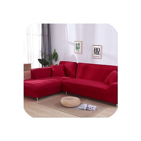 Happy Towns - Funda para sofá en Forma de L, elástica, Color ...
