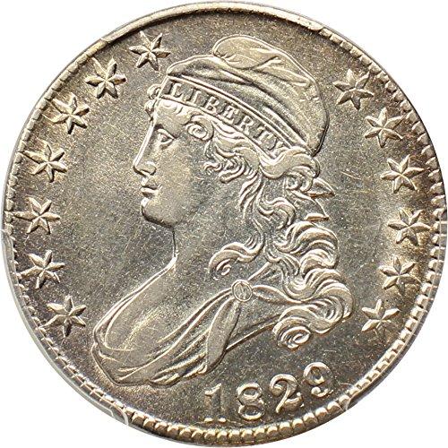 1829 P Bust Half Dollars 1829/7 Half Dollar AU50 PCGS