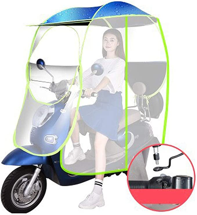 AFAGC Universal Car Motor Scooter Umbrella Mobility Sun Shade Rain Cover Waterproof Scooter Fold-Away Mobility Scooter Canopy,D