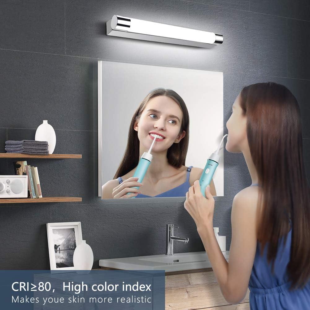 OOWOLF 9W Lámpara de Espejo Baño IP44 6000K 1200LM Luz De ...