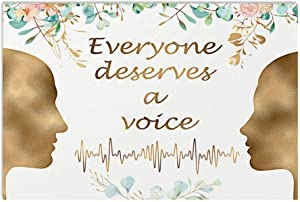 Speech Language Pathologist Poster Everyone Deserves A Voice Sound Wall Art Hanging Painting Paper Photography Watercolor Living Classroom Home Decor No Frame