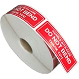 FirstZi 1x3 Inches Handle with Care - Do Not Bend - Thank You Self Adhesive Shipping Warning Labels for USPS Envelope, 1000 S