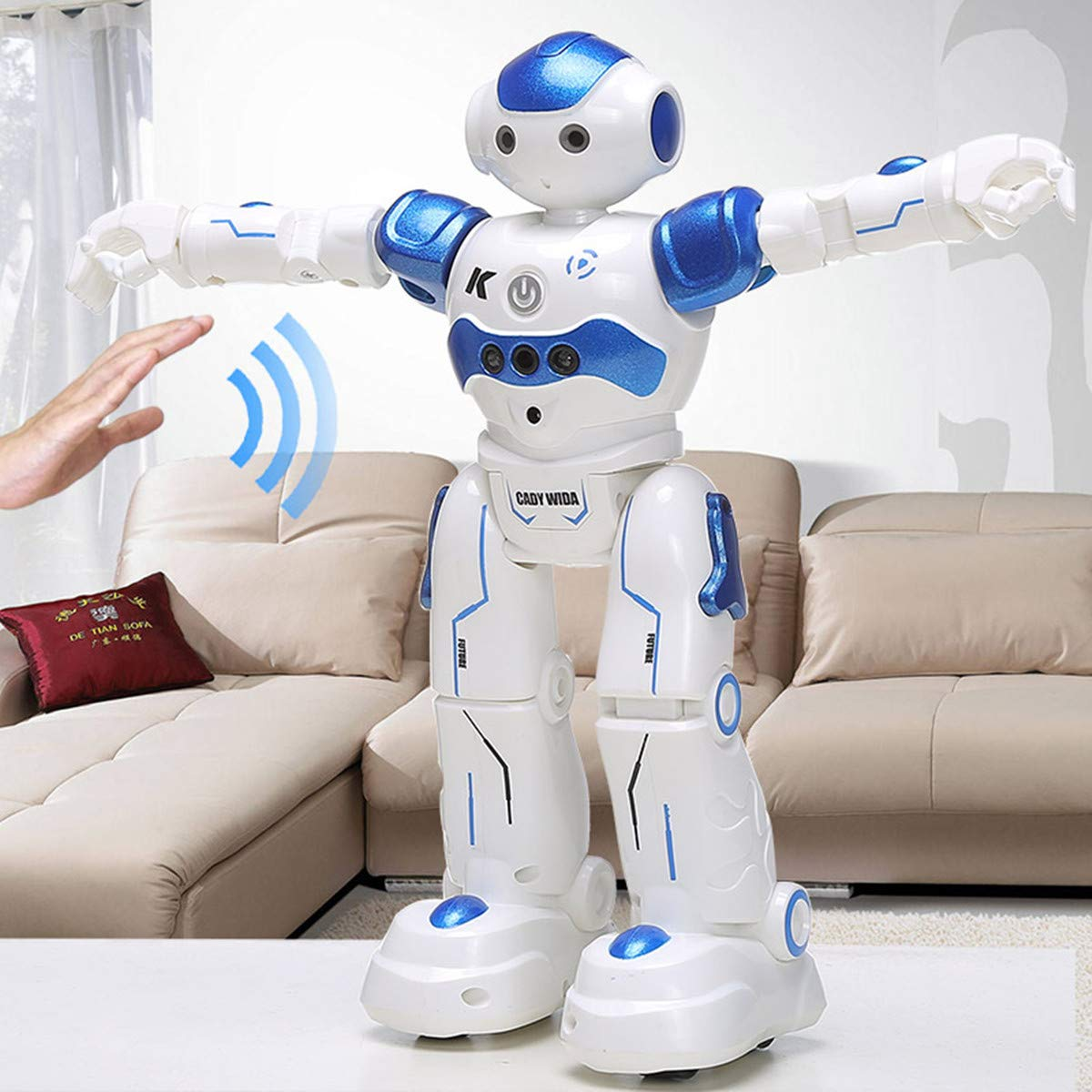 WEECOC Smart Robot Toys Gesture Control Remote Control Robot Kids Toys Birthday Can Singing Dancing Speaking Two Walking Models (White) by WEECOC (Image #9)