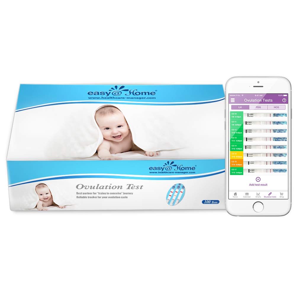 Easy@Home branded 100 Ovulation (LH) Urine Test Strips, 100 Tests