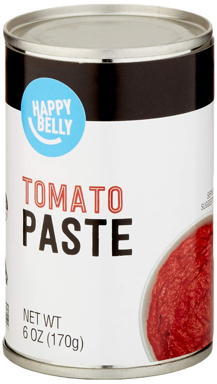 Amazon Brand - Happy Belly Tomato Paste, 6 Ounce