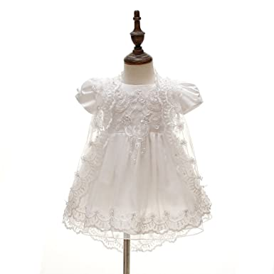Amazon Pink Girl Baby Girls Newborn Dress Christening Dresses