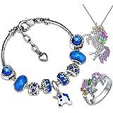 Kejea Unicorn Diamond Crystal Charm Bracelet Gifts for Teen Girls, gift girls, Birthday Gift for Friend, Mom, Daughter…