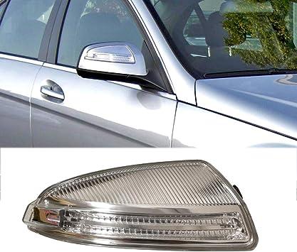 Amazon Com Ricoy For Mercedes W204 C Class C250 C300 C350 C63 Door Wing Mirror Housing Turn Signal Indicator Side Led Light Blub Right Automotive