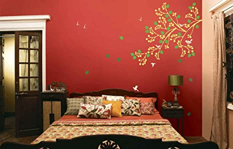 Asian Paints Royale Play Wall Fashion Spring Diaries Stencil Wall Sticker For Home And Office Wall Da C Cor