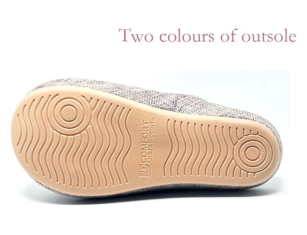 Unisex Slip-On Zapatillas Happy Lily antideslizante puntera abierta sandalia 3d estructura Mules vestido algodón Tejido Interior zapatos para Adultos, naranja