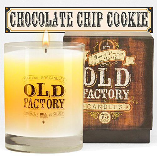 Scented Candles - Chocolate Chip Cookie - Decorative Aromatherapy - 11-Ounce Soy Candle