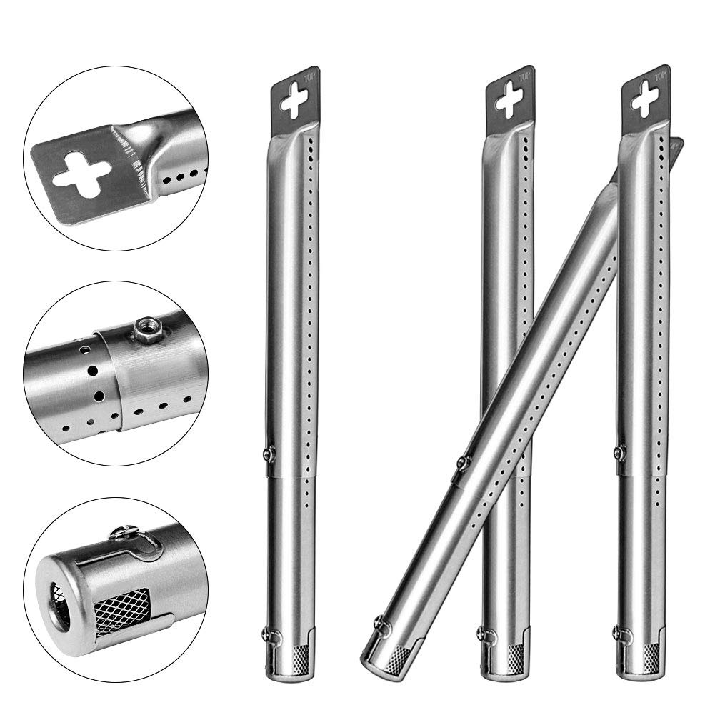 Quanzhongdian Universal Repair Adjustable Replacement Straight Tube Burner Universal Front to Back Tube Grill Burner Adjustable Length extends from 12 to 17.5