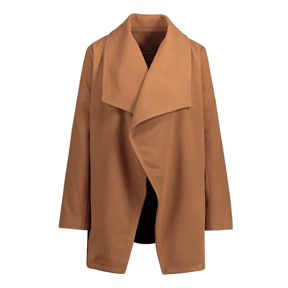 Khaki TinTop Women's Trench Coat Wool Short Trench Coats for Women Blend Winter Coats Long Trench Khaki