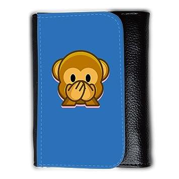 Cartera para hombre // Q05190608 Emoji mono 3 Azur // Medium Size Wallet: Amazon.es: Electrónica