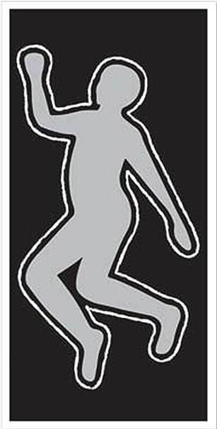 window etc Crime Scene Dead Man Body Silhouette Cut-Out Vinyl Decal //car bumper