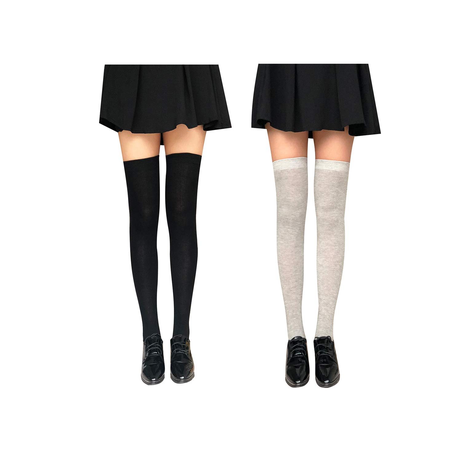 Kaariss Women Cotton Knit Over the Knee Socks Crochet Thigh High Stockings Dresses Cosplay Socks Leg Warmers Leggings