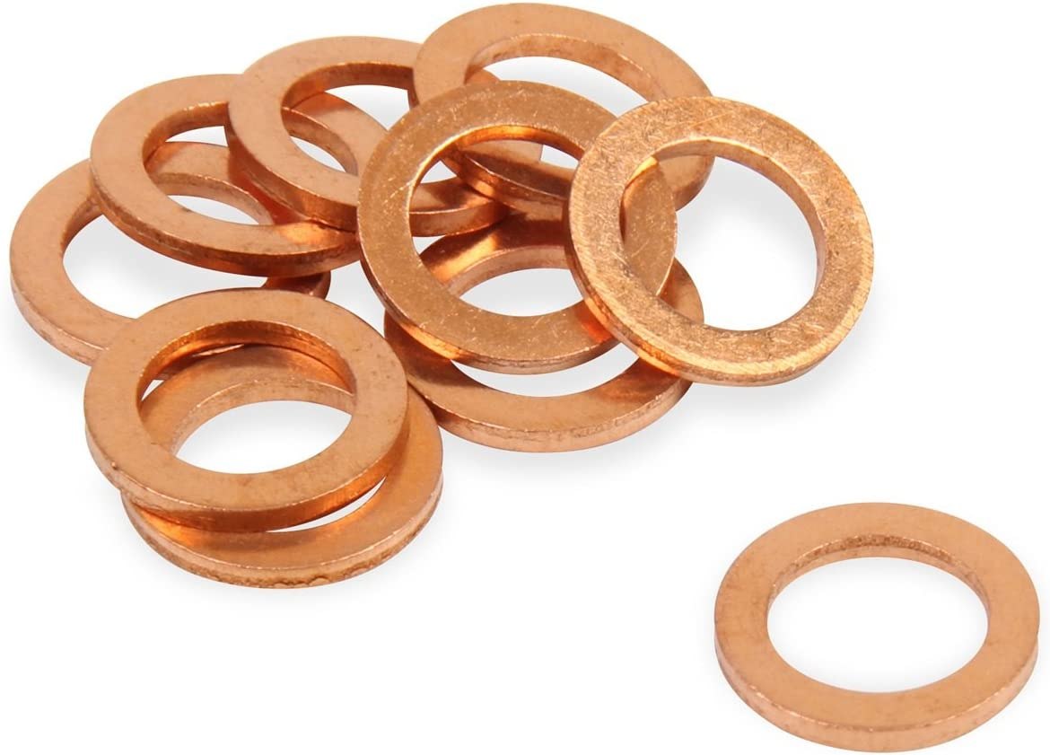 10//pk 7//16 or 12 mm ID COPPER CRUSH WASHERS M12 AN-04 JIC or Banjo Bolt