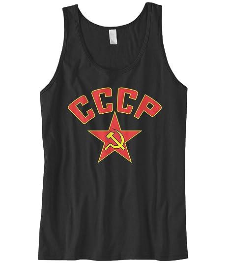 106239503c641 Amazon.com  Cybertela Men s CCCP Red Star Tank Top  Clothing