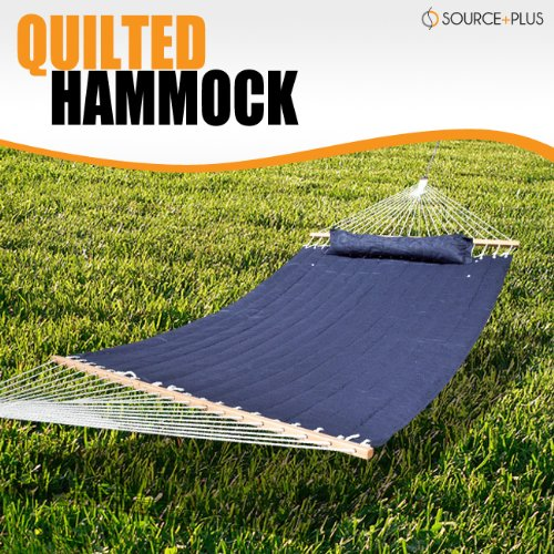 Hammock Quilted Pillow Top Navy Blue Outdoor Patio